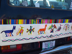 Decorated van