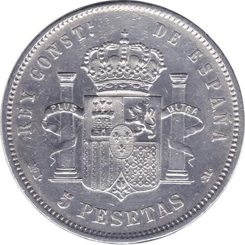 5 Pesetas Alfonso XII 1884 *18 *84 M.S.  M. 8858747639_5c13fb6bc9