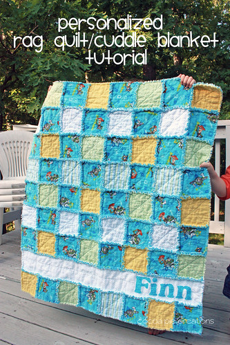 Boy Rag Quilt Tutorial