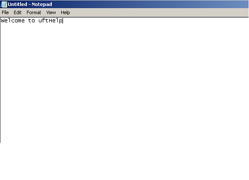 Working with Notepad in UFT