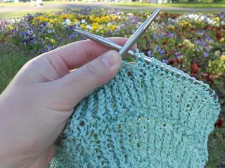 вязание летом резинка лентами