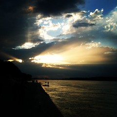 We've missed the storm #sunset #sky #clouds #cloudporn #river #danube #dunav #zemun #dailyphoto #instadaily #instagramdaily #igdaily #igers #igaddict #iphone