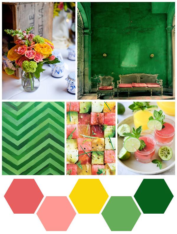 emerald + melon
