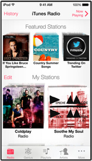 twitter music in iTunes Radio
