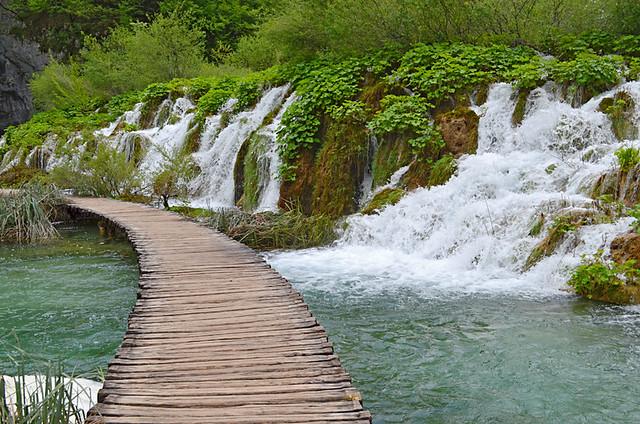 Path leading to Gavanovac Lake, Plitvice Lakes National Park, Croatia