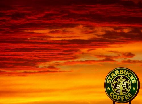 sunset clouds texas starbucks elpaso
