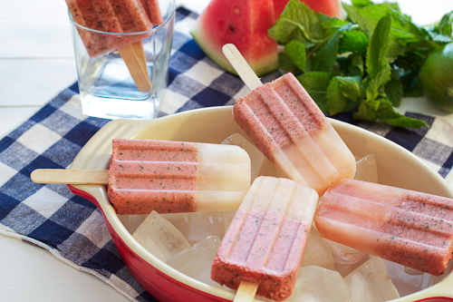 Watermelon Mojito Ice Pops