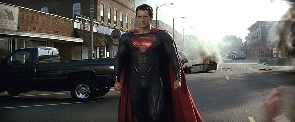 Super-meh: Henry Cavill has some big red boots to fill in MAN OF STEEL.
