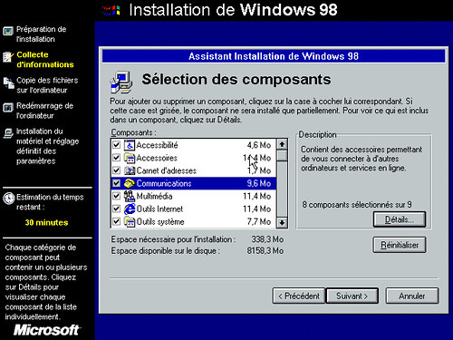 Installation MS-Windows 98