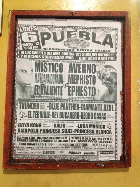 Lucha Libre poster with the night's match-ups