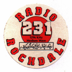 BBC Radio Rochdale small sticker 1984