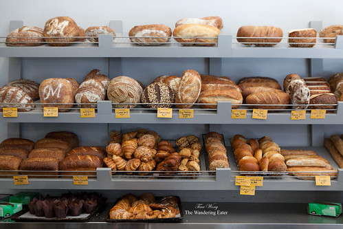 Glorious bread and pastry shelf