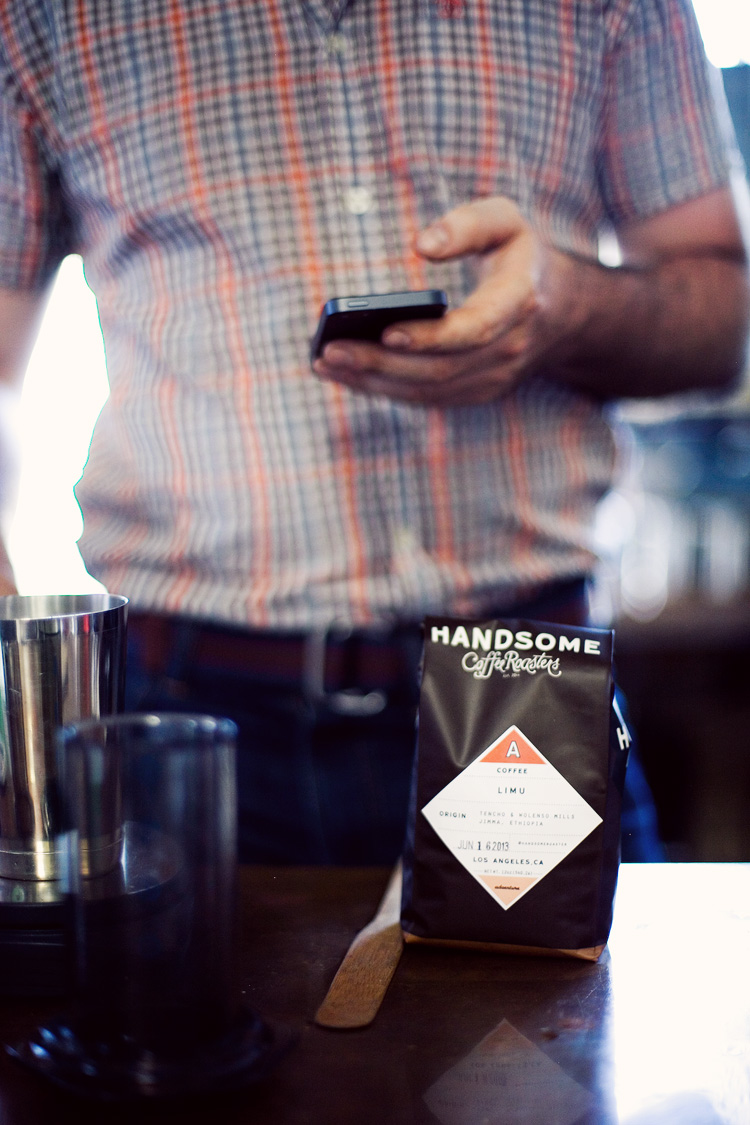 handsome coffee brewing class