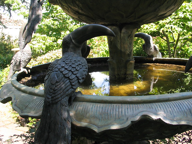 The Toucans & Maccaws Fountain at Larch Cottage, Melkinthorpe