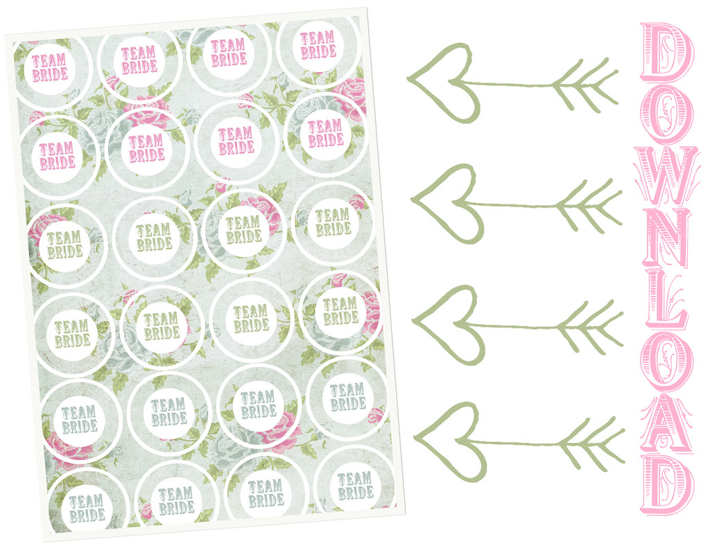 team bride cupcake toppes by zwergenprinzessin {freebie!}