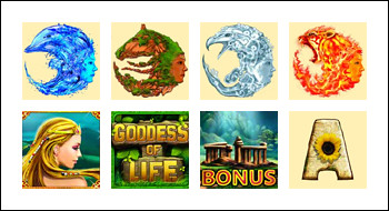 free Goddess of Life slot game symbols