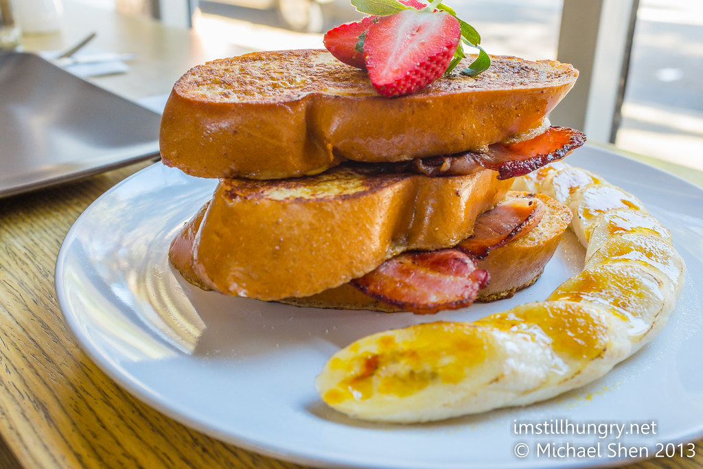 Chalkboard cafe brioche french toast