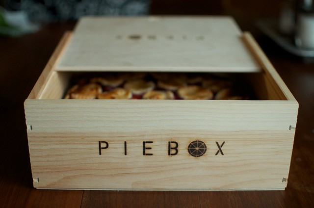 in the pie box