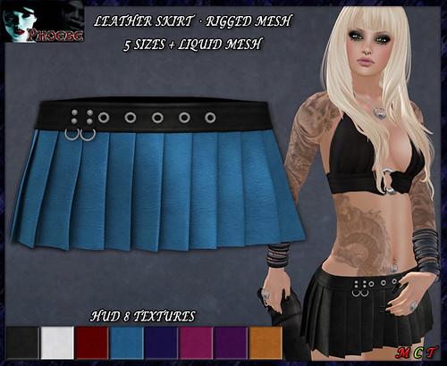 *P* Valerie MESH Skirt ~Leathers HUD~