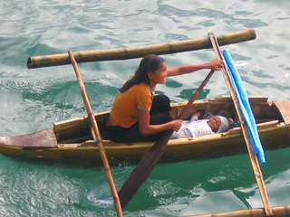 Badjao Mother And Her Baby (Sea Gypsies)