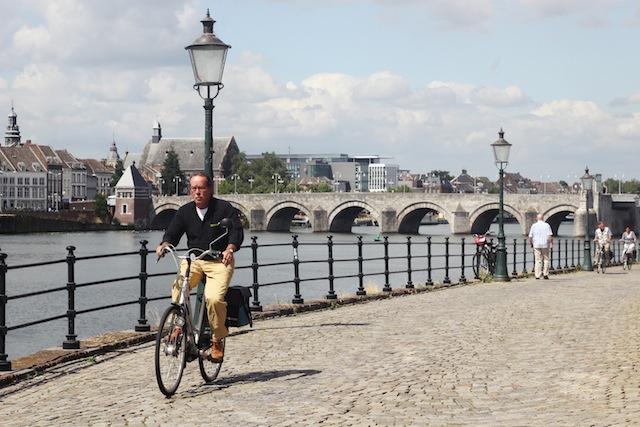 Maastricht cycling along river