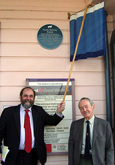Photo of T. R. Hannaford and railway station, Frome blue plaque
