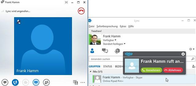 Chatten und telefonieren zwischen Lync und Skype