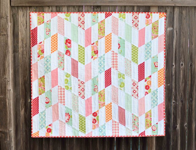 Striped chevron quilt kitchen table quilting for Kitchen quilting ideas