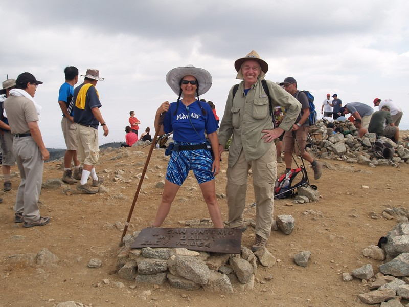 Vicki and I on the Summit of Mt. Baldy (Mount San Antonio) - 10064 feet elevation
