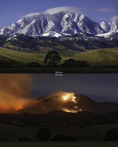 california night fire smoke blaze antioch mountdiablo