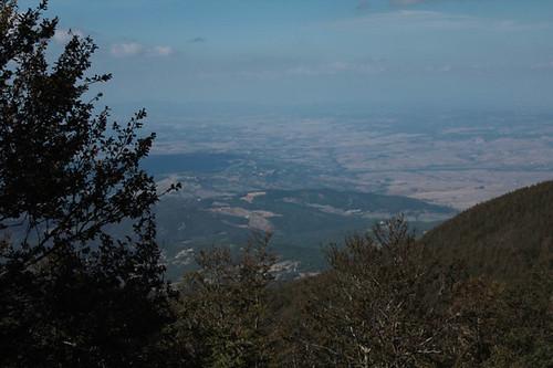 il panorama dalla vetta del monte