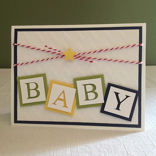 New baby card #stampinup #babyblocks #card #silhouettecameo