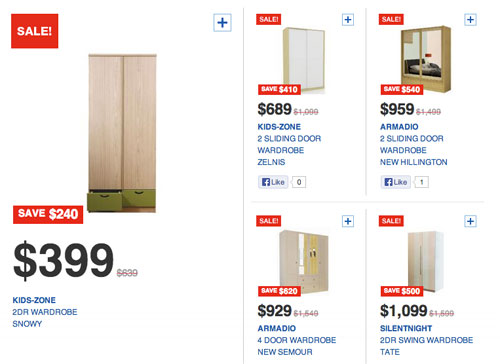 5 best places to buy wardrobe in singapore for Cheap home furniture singapore