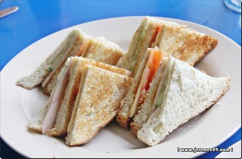 Big Bens English Breakfast @ Waterfall Road - Double Decker Sandwich Ham & Cheese