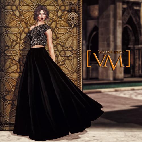 [VM] VERO MODERO  Ava Gown Glitter Lace