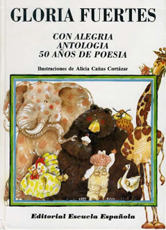 Cubierta de Con alegría. Antología. 50 años de poesía