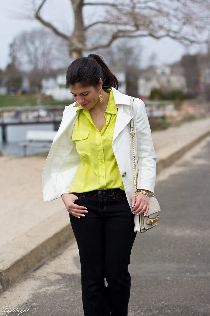 lime equipment blouse, white blazer-4.jpg