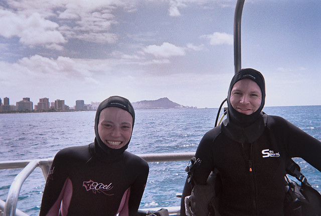 Wearing Diving Hoods