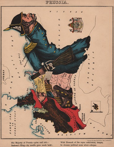 Caricature map of Prussia by Aleph