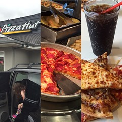 Pizza Hut restaurant with all you can eat Works for lunch. Good times. #pizza #pizzahut #hitthehut #orange #orangensw