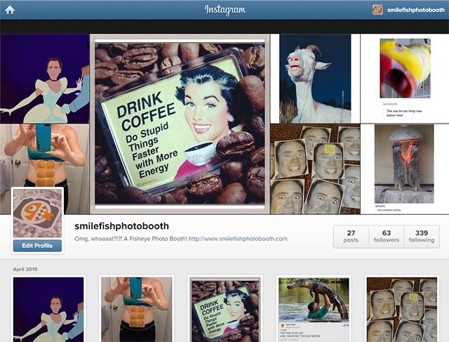 smilefish instagram | photo booth