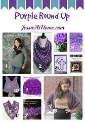 Purple Crochet Pattern Round Up from Jessie At Home