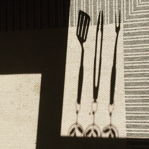 Grilling Utensils Shadow