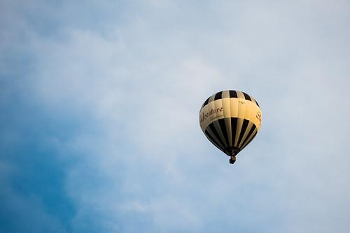 Heißluftballon über der Oberpfalz