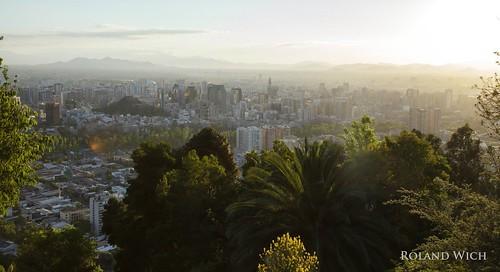 chile santiago america de san chili view south hill vista tramway amer südamerika christobal