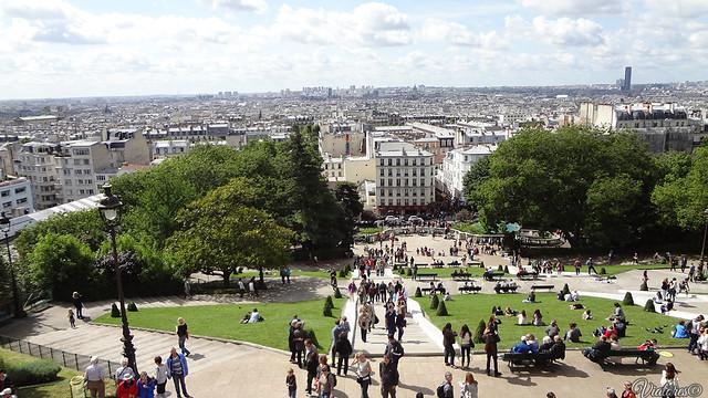 Вид с базилики Сакре-Кёр. Париж. Montmartre. Paris. France