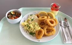 Calamari with potato salad &  remoulade / Cala…