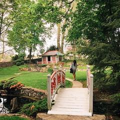 Peaceful places. #latergram #museum #garden #arboretum #Shenandoahvalley #winchester #va #bridge #creek #shack #peace