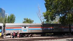 Amtrak Heritage Baggage Car #10093 (one of 3 display cars)