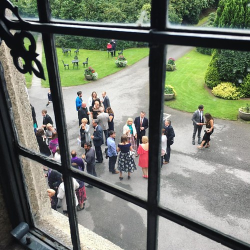 View from @waterfordcastle, looking out upon the wedding guests. #justsaranups #window #ireland #whataview